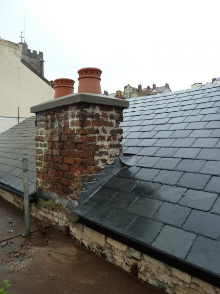 New capping&pots to chimney