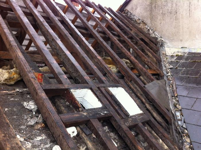 Old roof timbers